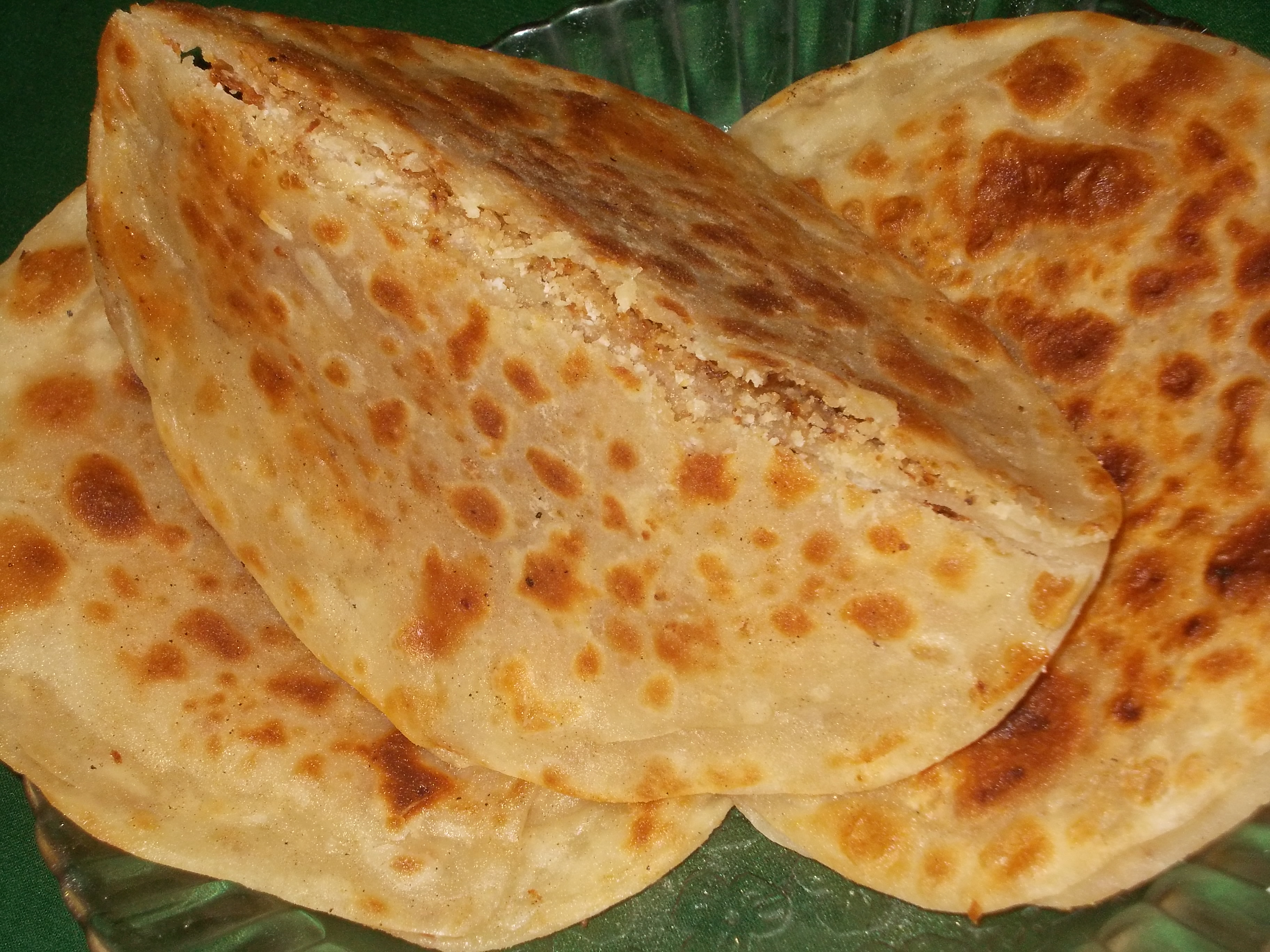 Sweet Coconut Paratha Recipe