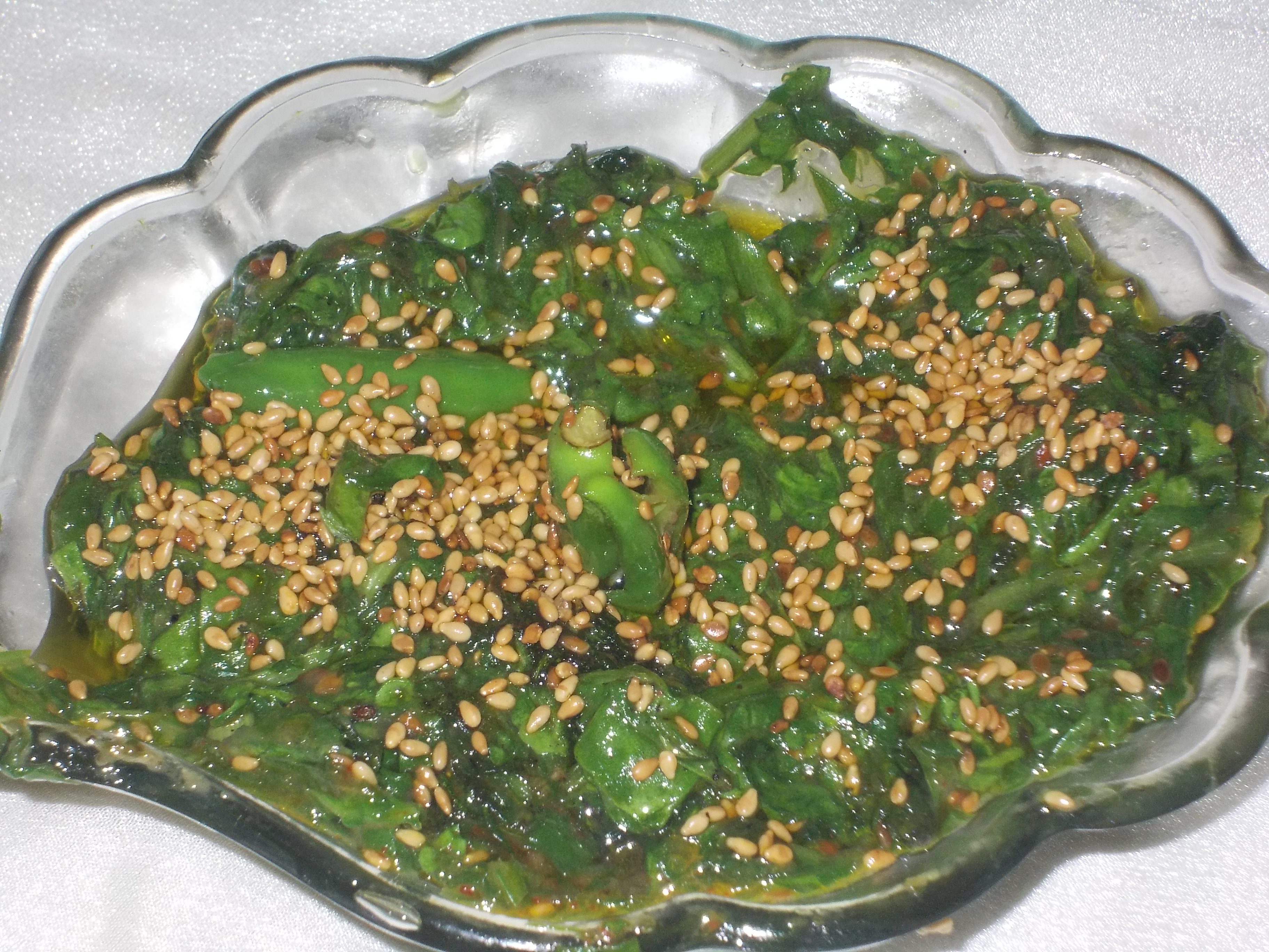 Crackling Spinach Recipe