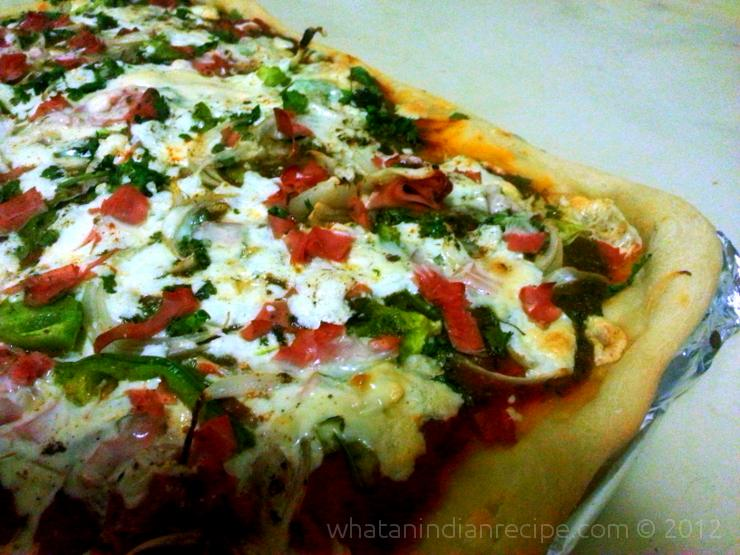 Homemade Indian Pizza Recipe