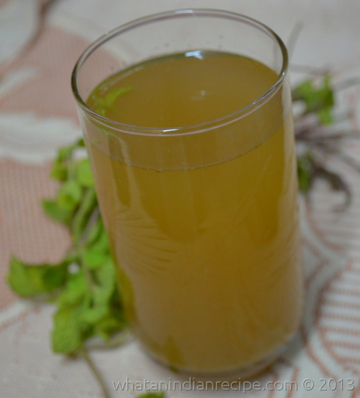 Ginger Pudina Sharbat Recipe
