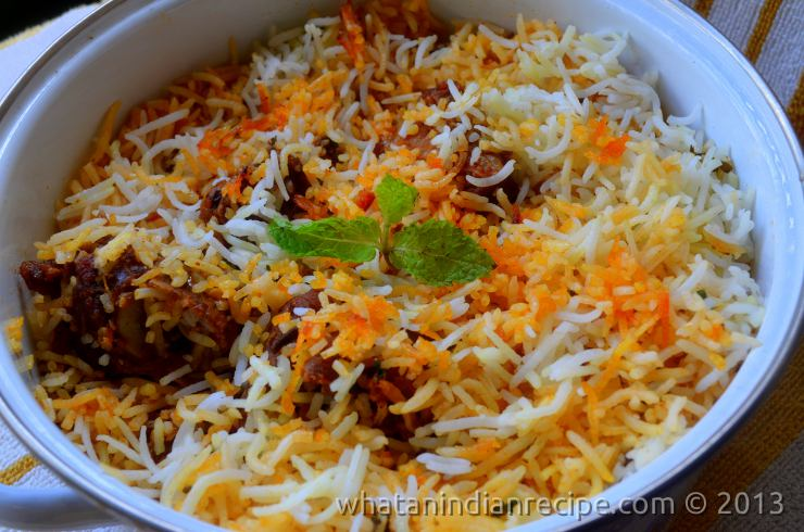 Hyderabadi Mutton Dum Biriyani Recipe